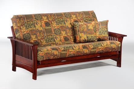 Night And Day Furniture Autumn Full Futon Frame In Rosewood Finish BA AUT RW