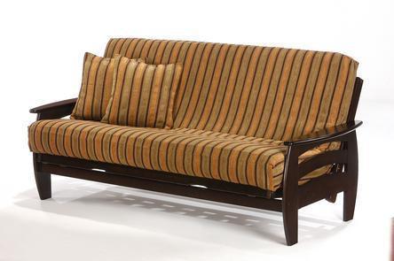 Night And Day Furniture Corona Twin Lounger Futon Frame In Chocolate Finish  BA COR