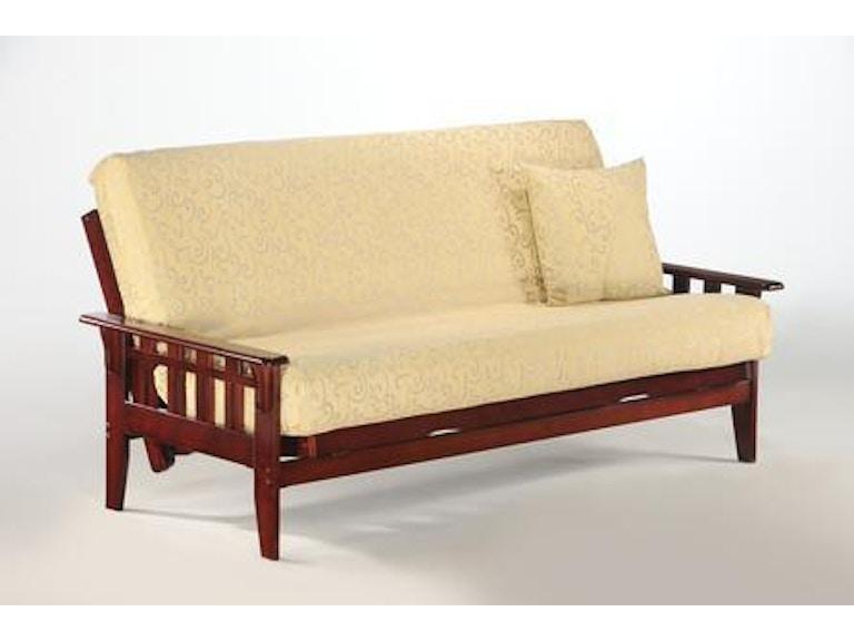 Night And Day Furniture Kingston Full Futon Frame In Rosewood Finish Ba Kin Rw