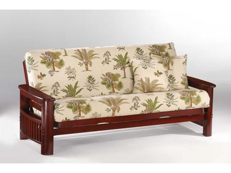 Night And Day Furniture Portofino Queen Futon Frame In Rosewood Finish Ba Por Rw