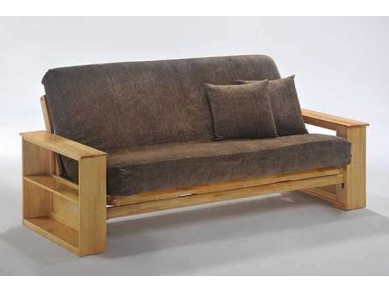 Night And Day Furniture Princeton Twin Lounger Futon Frame In Natural Finish Ba Prn