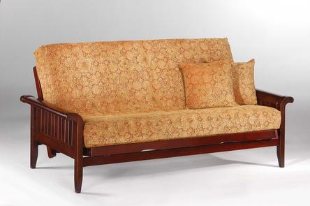 Night And Day Furniture Venice Loveseat Lounger Futon Frame In Rosewood  Finish BA VNC
