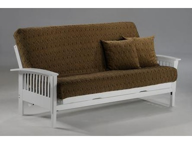 Night And Day Furniture Winchester Twin Lounger Futon Frame In White Finish Ba Wnc