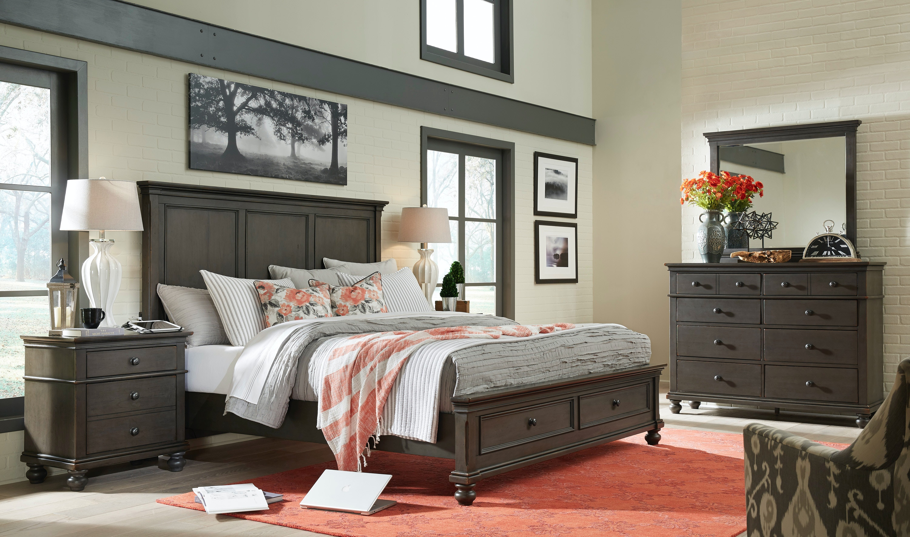 Exceptional Aspenhome 5 Piece King Panel Storage Bed Set Oxford Panel SB PEP