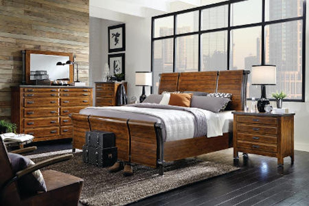 aspenhome 6-piece King Sleigh Bed Set ...