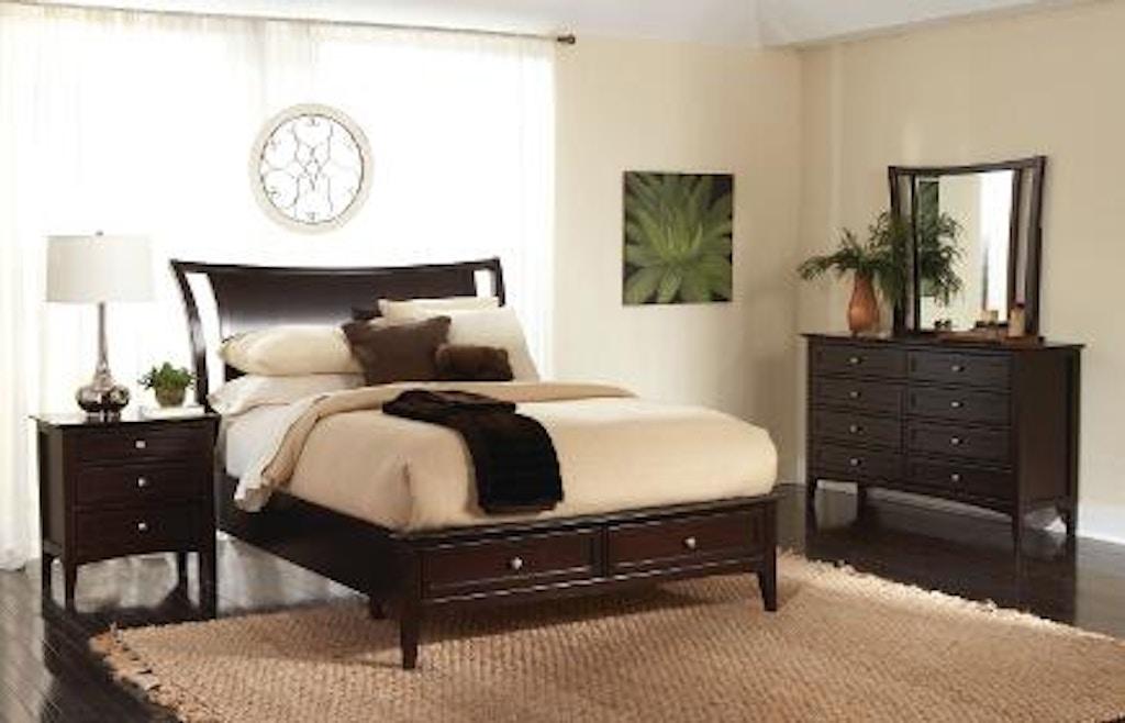 Aspenhome 5 piece queen sleigh storage bed set kensington sleigh bed sb java queen set for 5 piece queen sleigh bedroom set