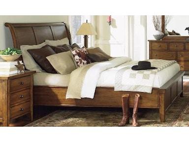 Aspenhome 5 piece queen sleigh bed set cross country - 5 piece queen sleigh bedroom set ...