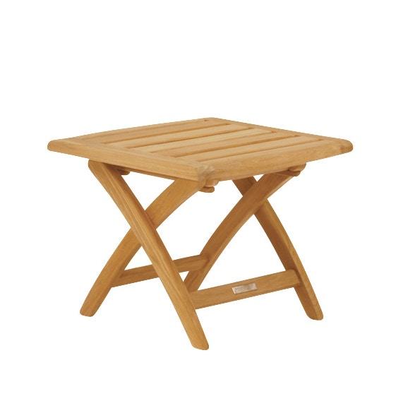 Kingsley Bate St. Tropez Side Table/Ottoman (Folding) W/Teak Top