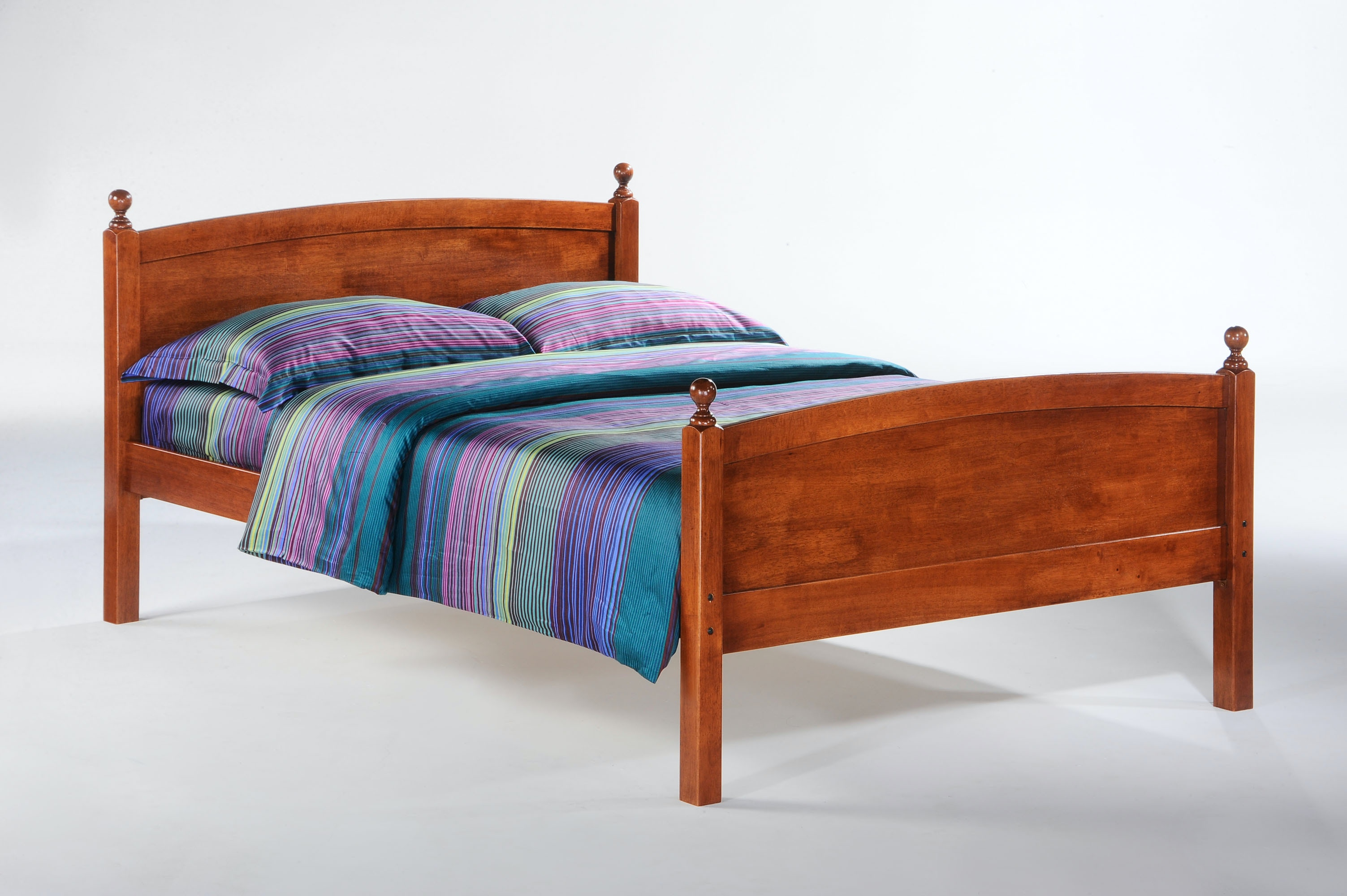Bon Night And Day Furniture Full Licorice Bed In Cherry Finish YHF LIC FUL
