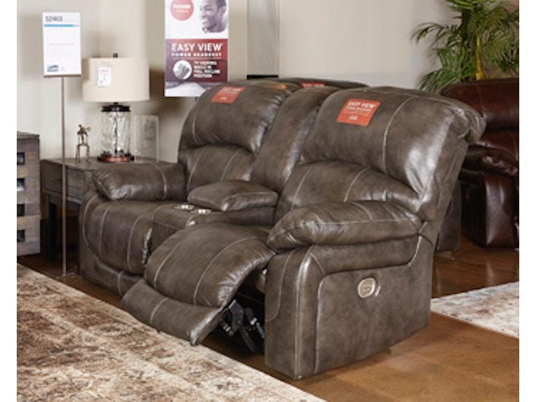 Admirable Power Reclining Loveseat Console Adjustable Headrest Machost Co Dining Chair Design Ideas Machostcouk