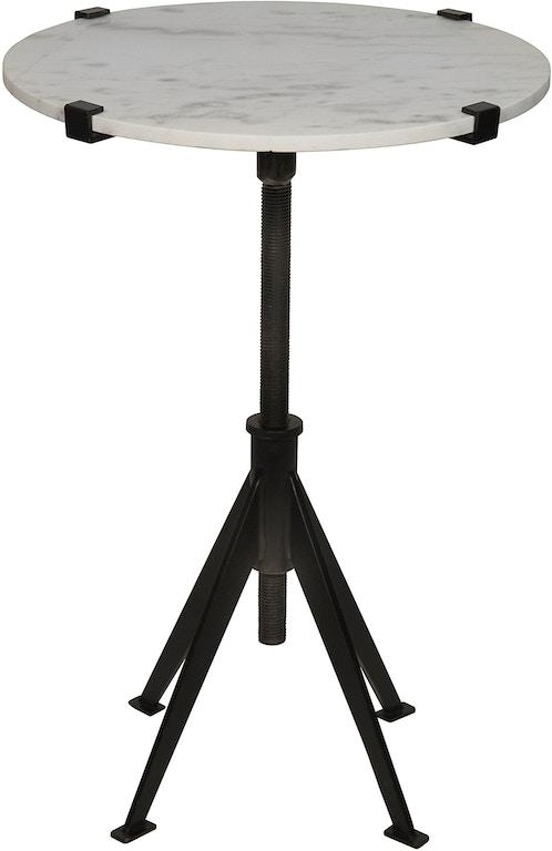 Noir Edith Adjustable Side Table Black Metal Small Gtab679mtb S