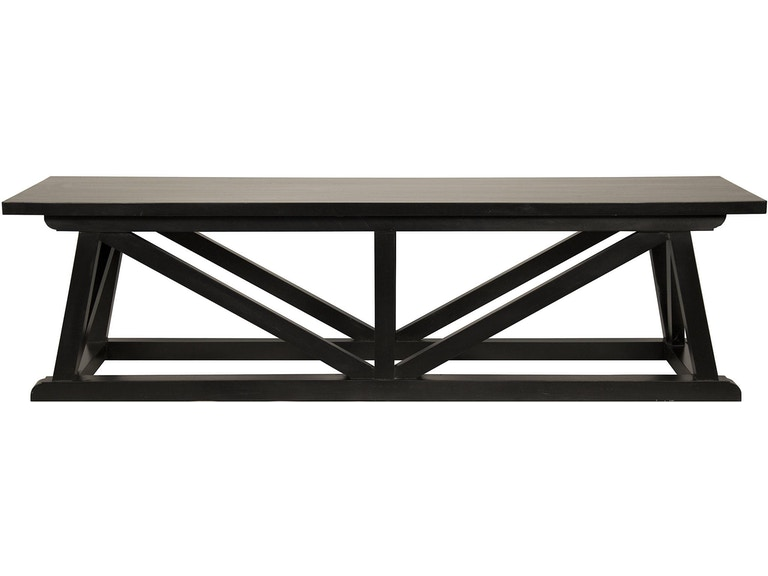 Noir Sutton Bench Hand Rubbed Black Gben108hb Portland Or Key Home Furnishings