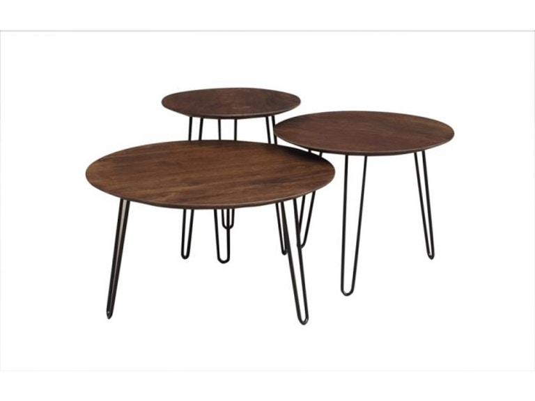 Porter Designs Chestnut Round Coffee Tables Set Of 3 Hc2682m01 C In Portland Oregon