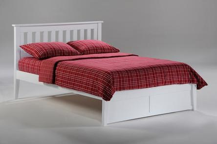 Night And Day Furniture Queen Rosemary Bed (K Series) In White Finish KH