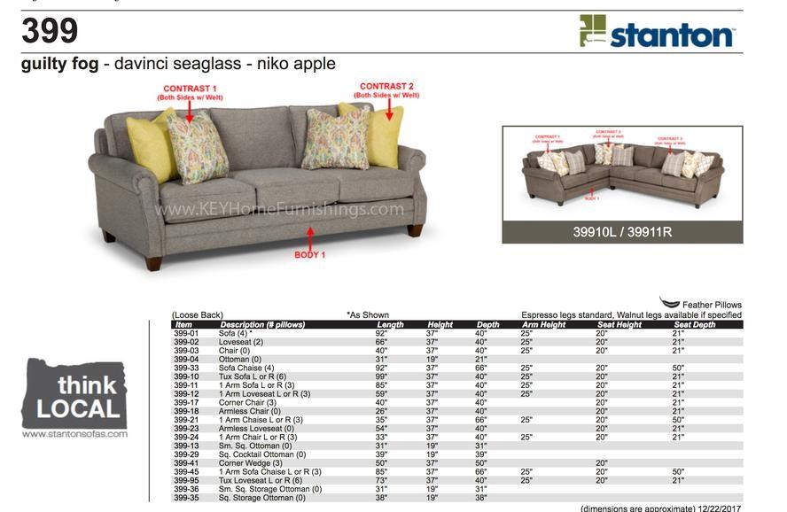 Stanton Furniture 399 Sectional In Portland, Oregon