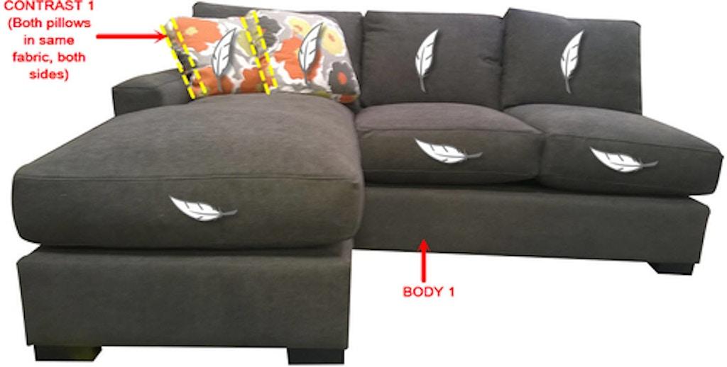 Swell Stanton 1 Arm Sofa Chaise 68145R Portland Or Key Home Interior Design Ideas Helimdqseriescom