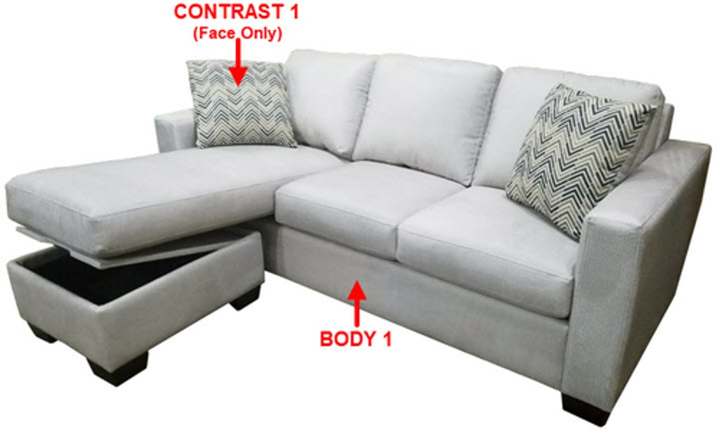 Stanton Sofa Chaise Queen Sleeper With