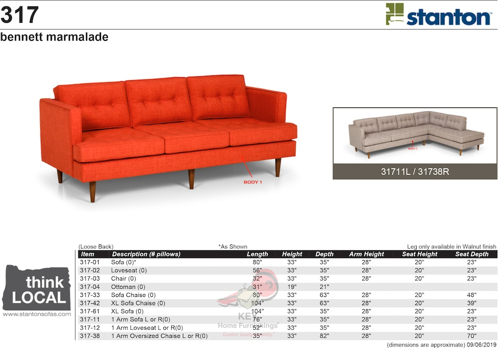 Marvelous Stanton Xl Sofa Chaise 31742 Portland Or Key Home Gmtry Best Dining Table And Chair Ideas Images Gmtryco