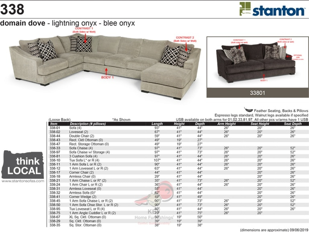Awe Inspiring Stanton Sofa Chaise 33833 Portland Or Key Home Furnishings Pabps2019 Chair Design Images Pabps2019Com
