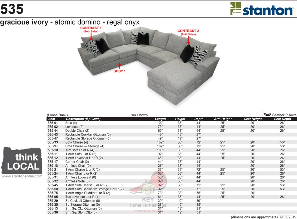 Stanton Sectional 535-Sectional - Portland, OR   Key Home ...