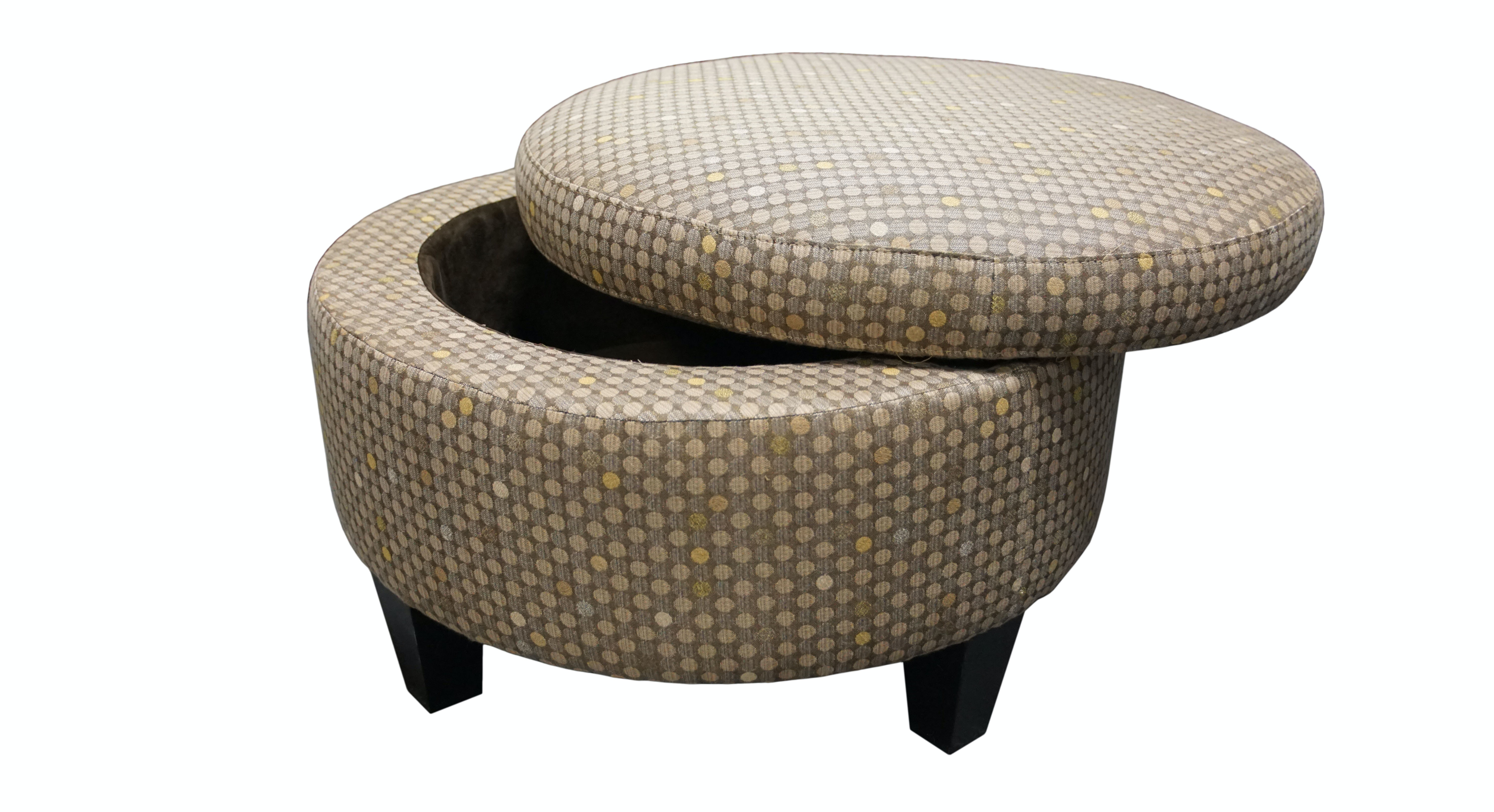 Exceptionnel Jonathan Louis International Small Round Storage Ottoman 2162