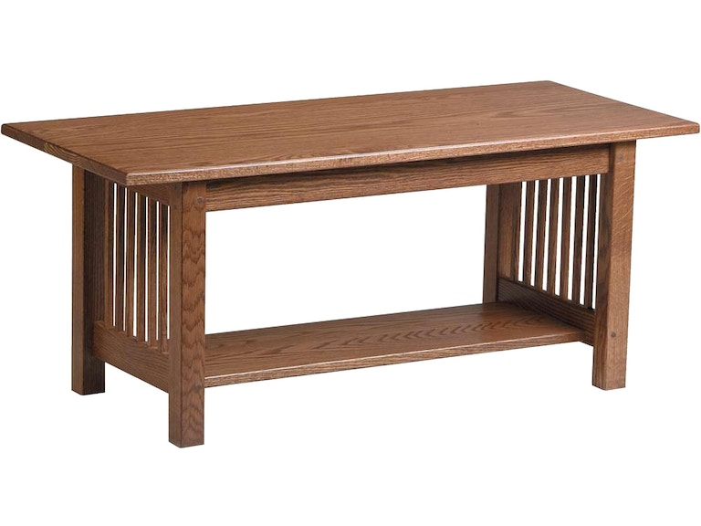Country Value Woodworks Living Room Mission Style Coffee Table Cf 027 At Treeforms Furniture Gallery
