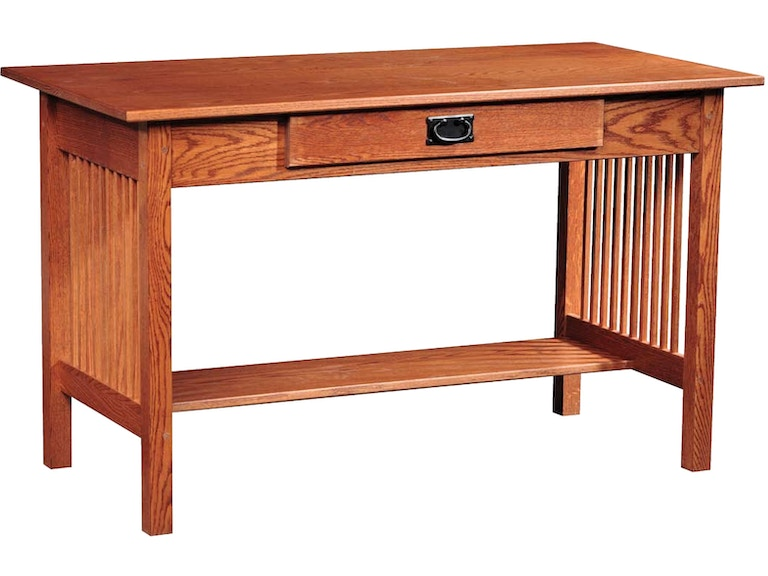 Country Value Woodworks Home Office Mission Style Library Desk 32 At Treeforms Furniture Gallery