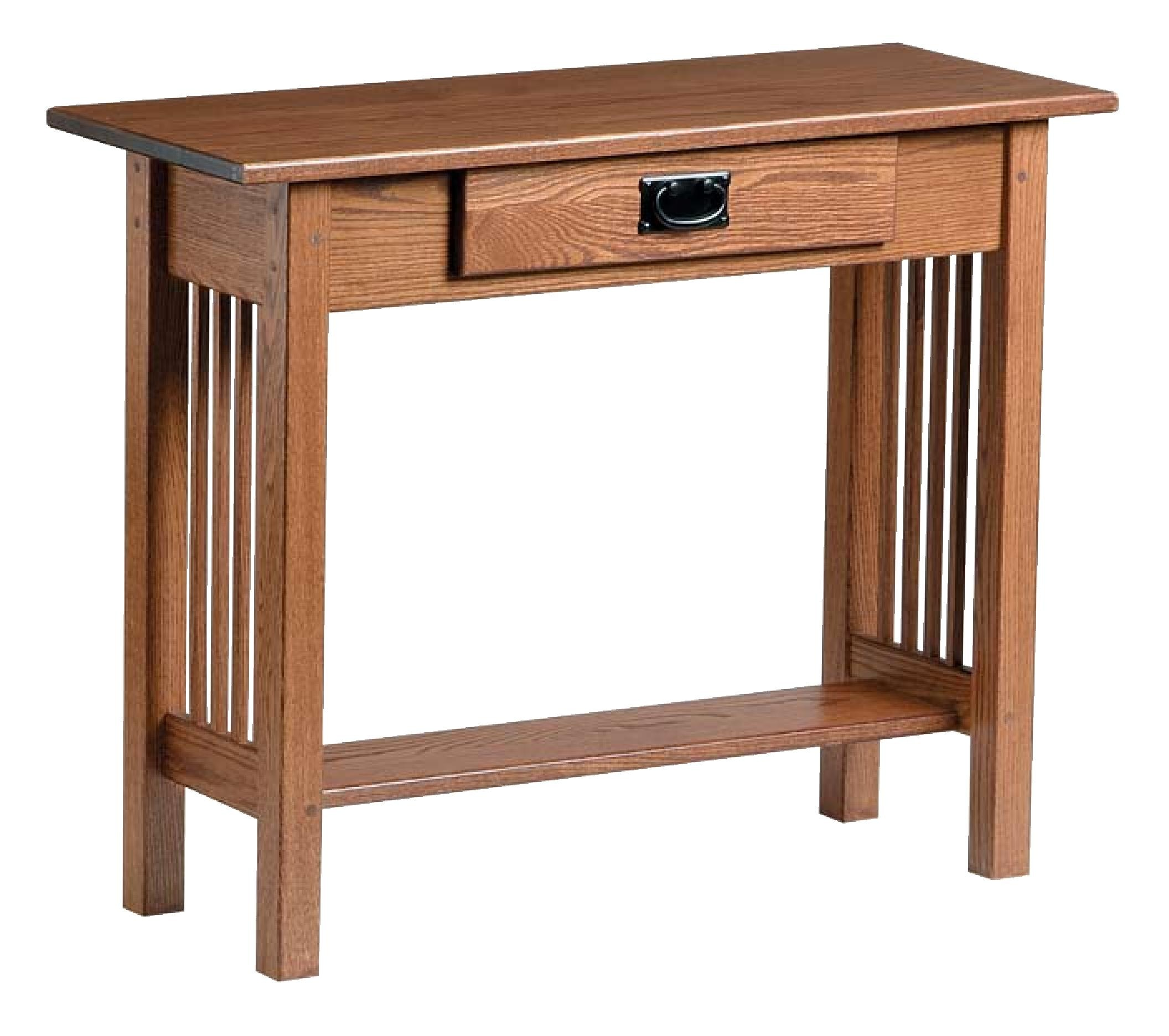 Genial Country Value Woodworks Mission Style Console Table W/ Drawer 044