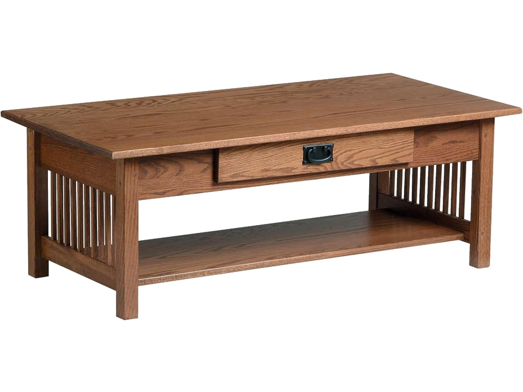Country Value Woodworks Living Room Mission Style Large Coffee Table W Drawer 045 Treeforms