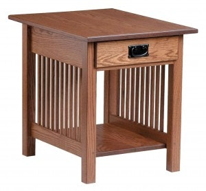 Country Value Woodworks Living Room Mission Style End Table w