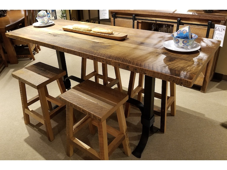 Clearance Dining Room 5 Piece Barnwood Table Dining Set ...