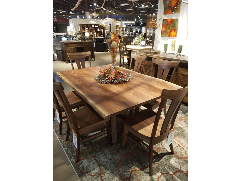 Live Edge Dining Room 48 X 72 Tifton Table LE FDFTBTWN2170 At Treeforms Furniture Gallery