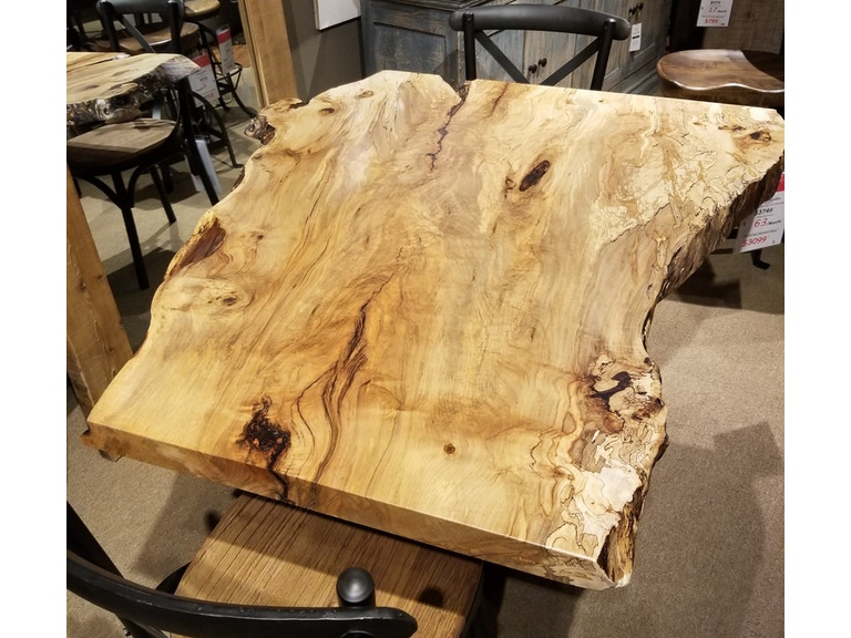 34 x 56 Spalted Maple Table w/ Base