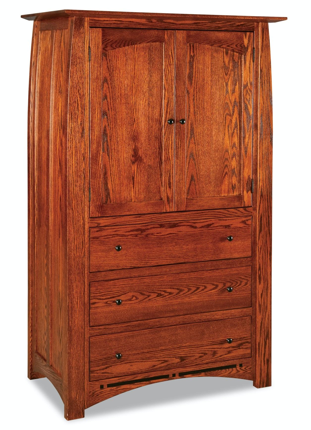 Ju0026R Woodworking Boulder Creek 3 Drawer 2 Door Armoire JRBC 041 3