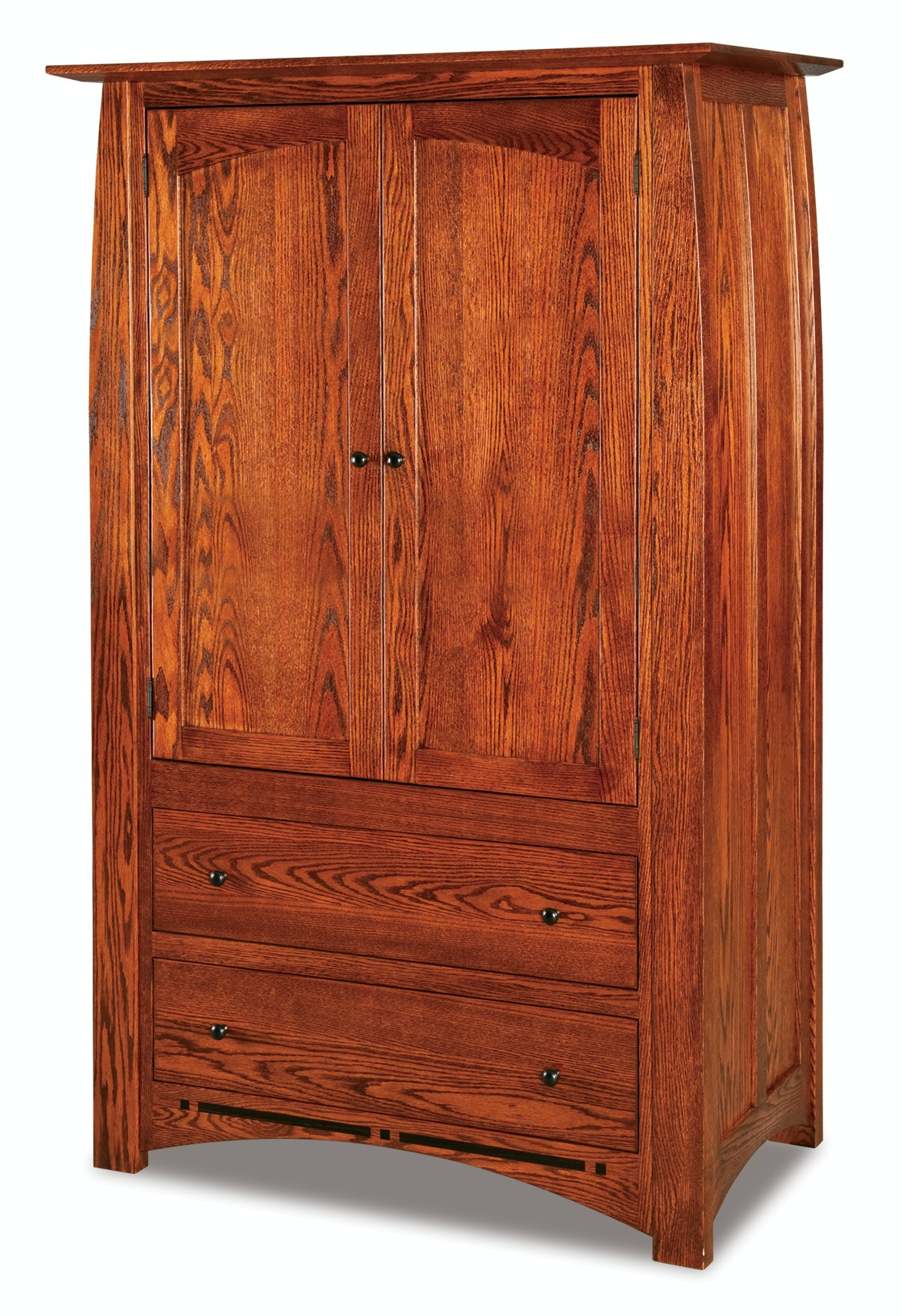 Ju0026R Woodworking Boulder Creek 2 Drawer 2 Door Armoire JRBC 041