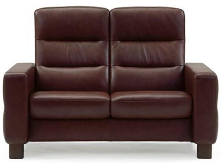 Stressless by Ekornes Living Room Wave 2 Seat High Back Sofa 1125020 ...