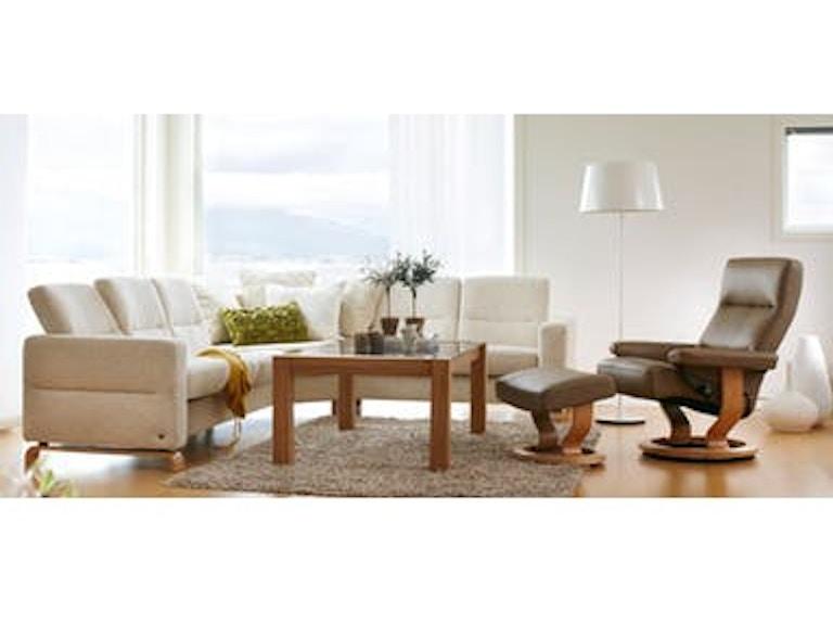 Stressless by Ekornes Living Room Wave 3 Seat High Back Sofa ...