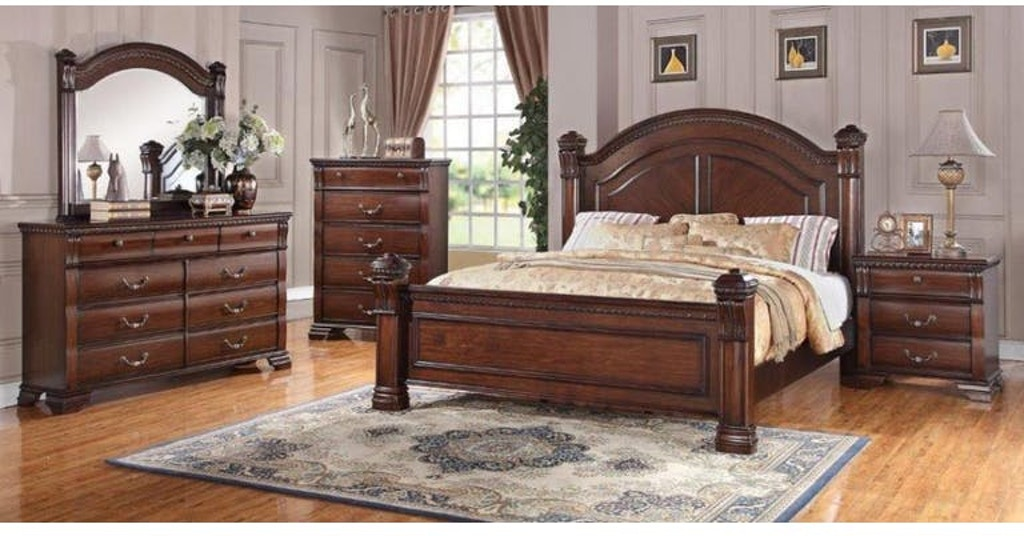 Bernards Isabella Queen Bedroom Set 1410 New Look