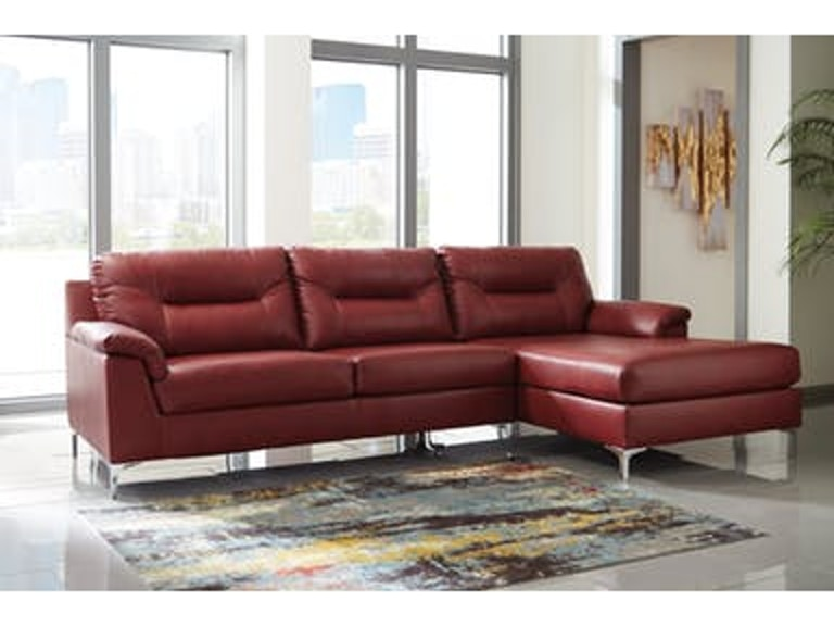 Signature Design By Ashley Living Room 2 Piece Sectional Tensas Red
