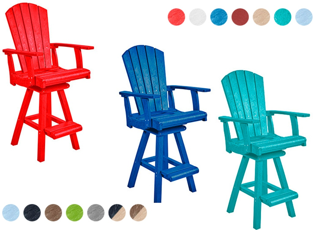 Cr Plastics Adirondack Pub Chairs And Stools