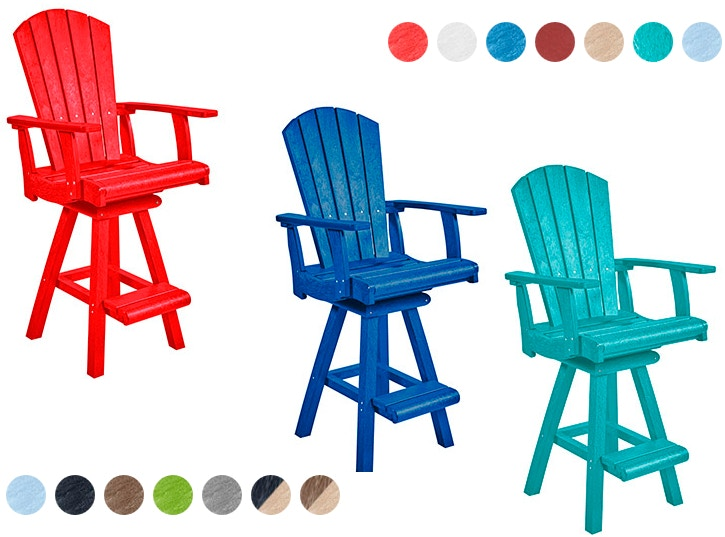 CR Plastics   Adirondack Pub Chairs And Stools SWIVEL PUB CHAIR Looking For  Something Timeless And