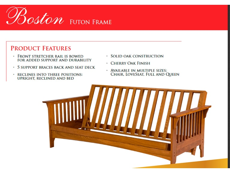 Gold Bond Futon Frame Boston Gb