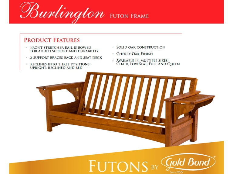 Gold Bond Futon Frame Burlington Gb Burly