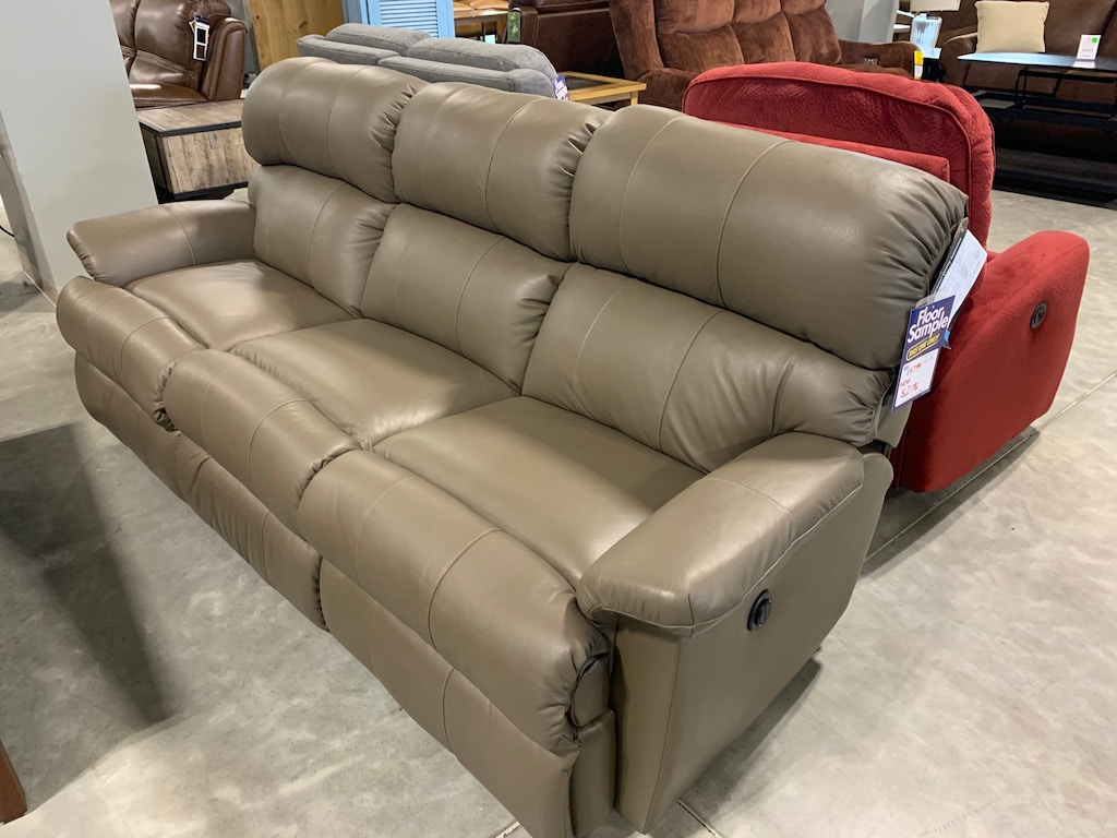 Clearance Leather Reclining Sofa This