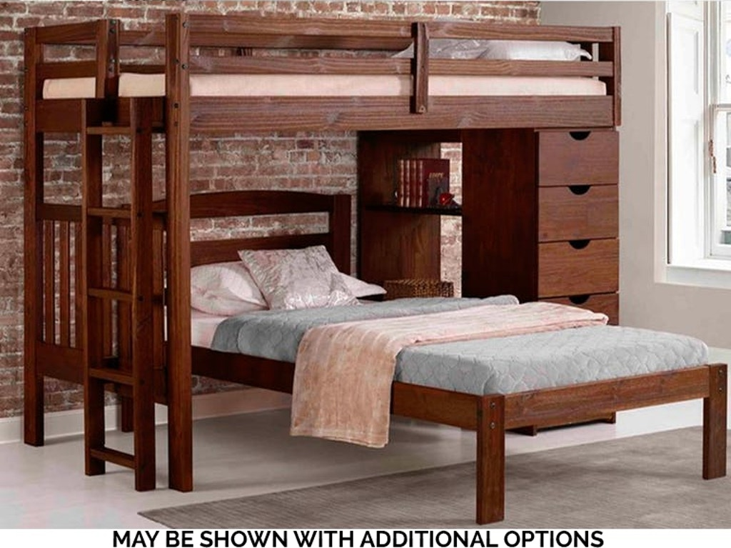 LONDON LOFT BUNK - May be shown with additional options - (see more bunk /  youth beds HERE) -