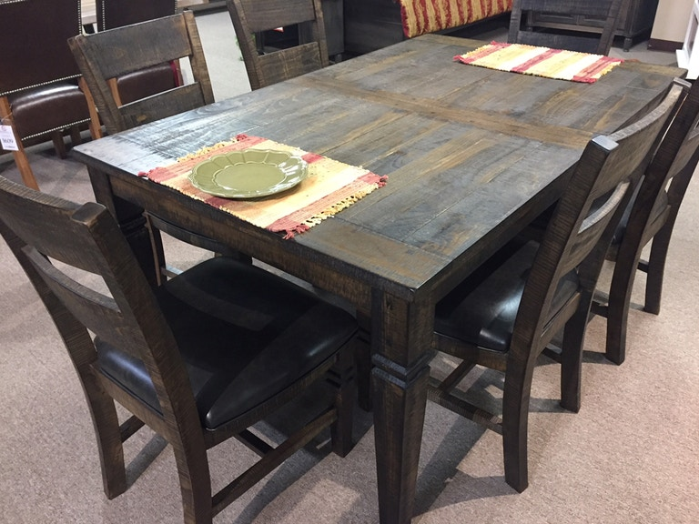 Clearance Rustic Table And Six Chairs
