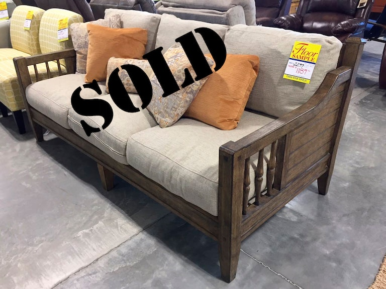 Clearance Sold Wooden Arm Sofa Clrnc Riverbank