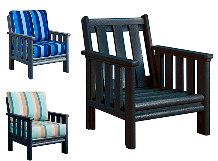 CR Plastics   Stratford Deep Seating   Fully Assembled, Lifetime Warranty,  Recycled Plastic With