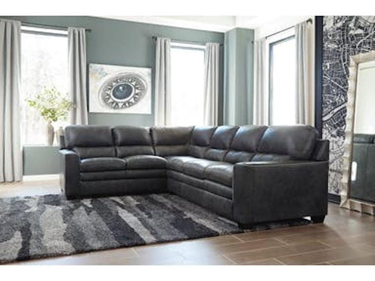 Ashley Gleason Charcoal Sectional W Laf Sofa With Wedge 1570248 67