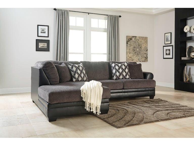 Ashley Living Room Kumasi Smoke W Laf Chaise 3220267 16 Z R